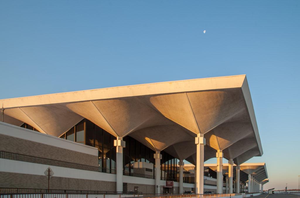 Moon over terminal