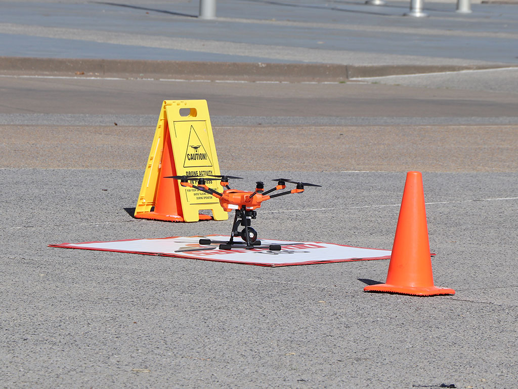 901 Drones launch pad