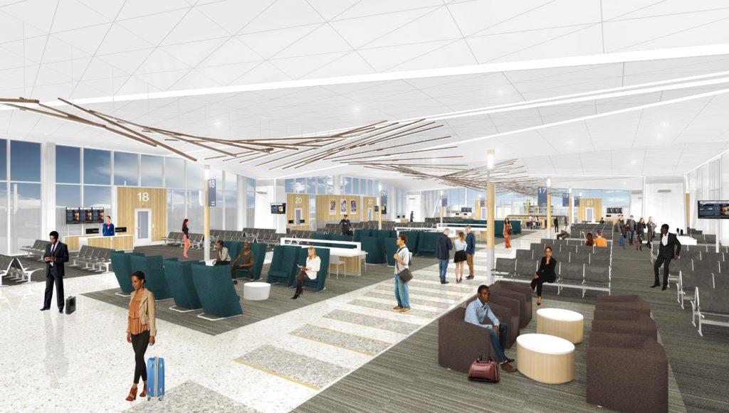 B concourse modernization gates rendering