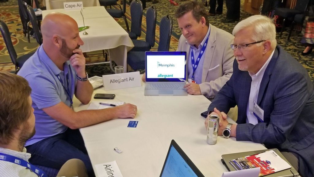 Scott Brockman and Chip Gentry meet with Allegiant
