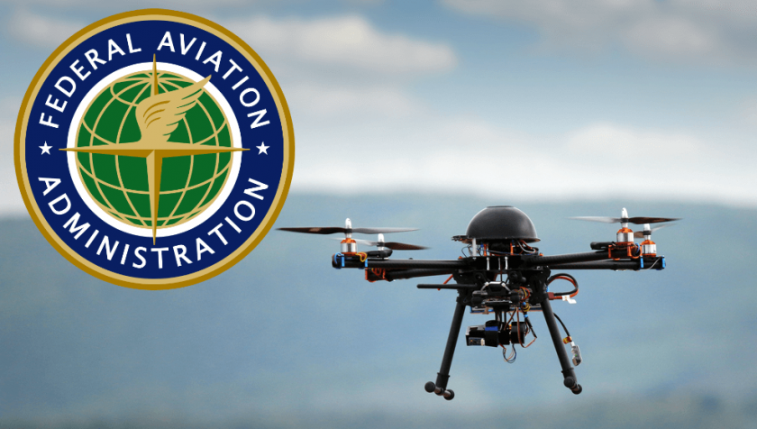 TSA logo and drone