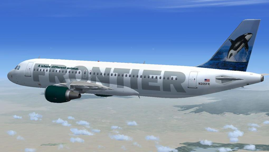 Frontier Airlines whale livery