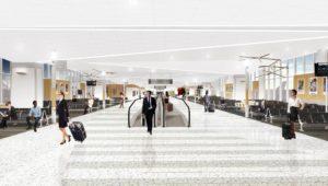 B modernization wider walkways rendering