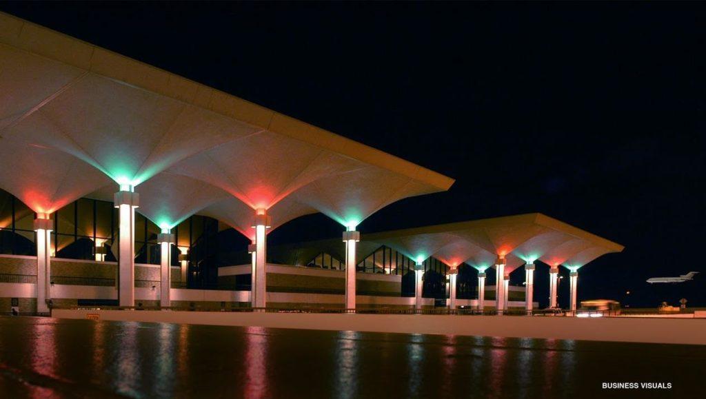 MEM terminal Christmas lights