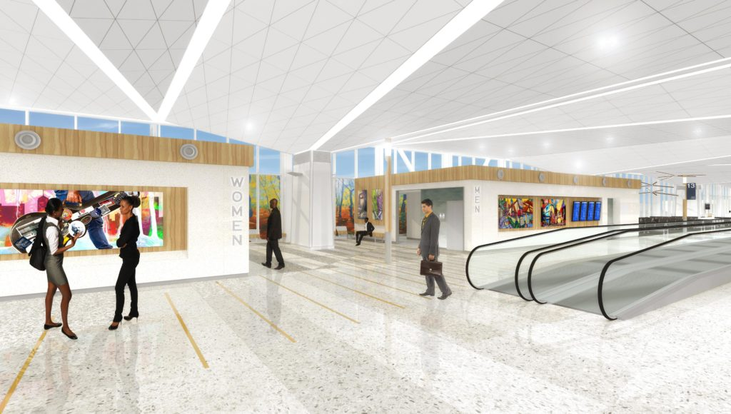 B modernization wide walkways rendering