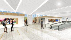 B modernization wide walkways rendering