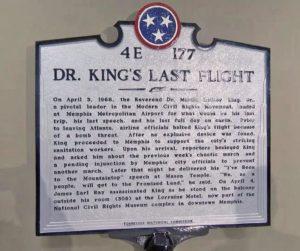 Dr. King's Last Flight historical marker