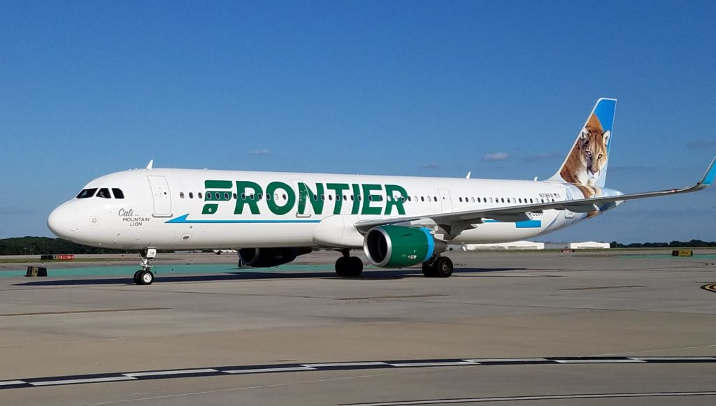 Frontier Airlines tiger livery