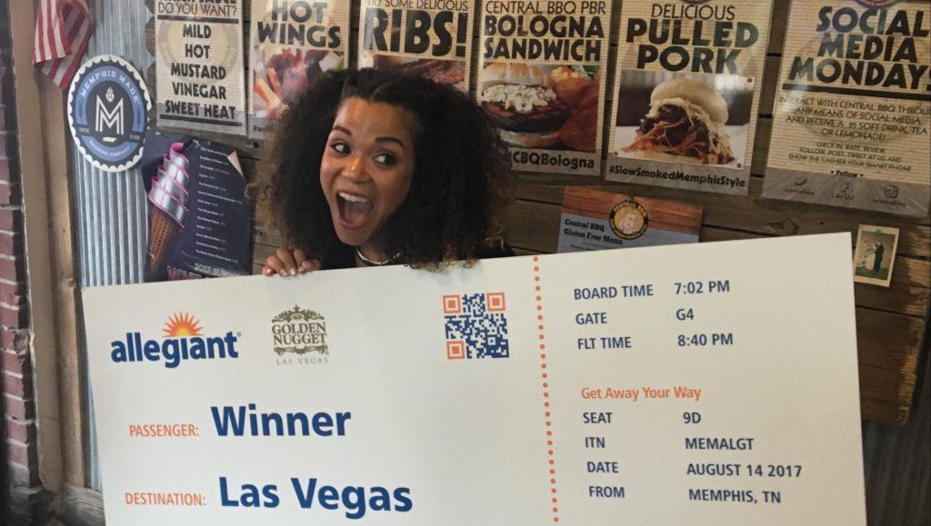 Allegiant giveaway winner