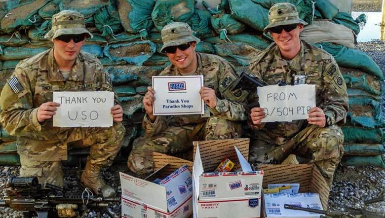 Paradies Support our Troops USO program
