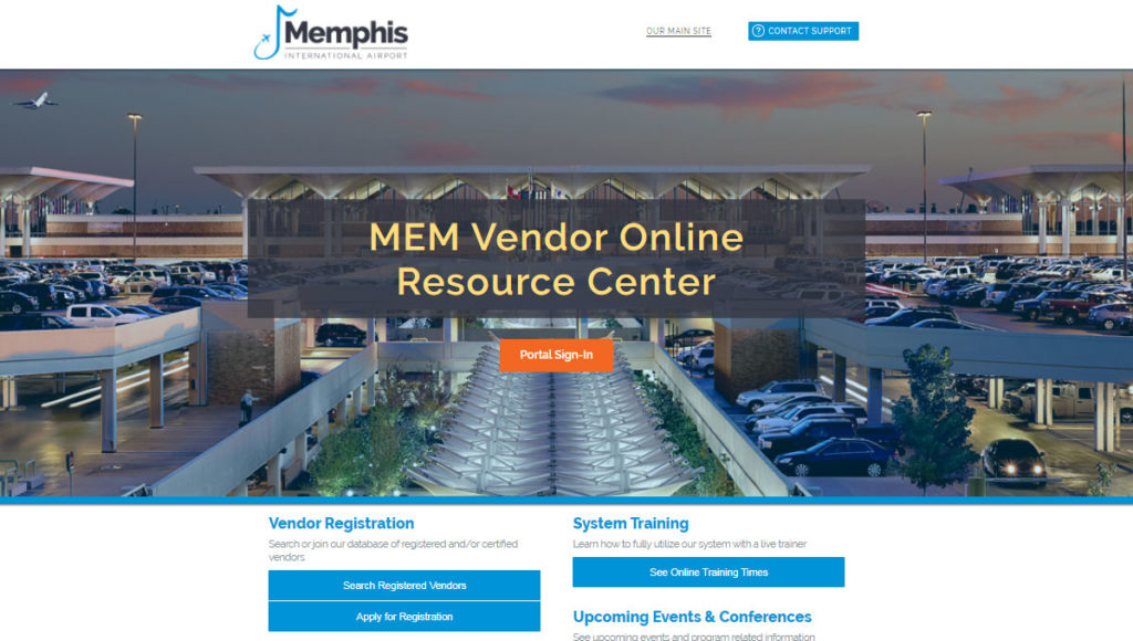 MEM Vendor Online Resource Center screenshot