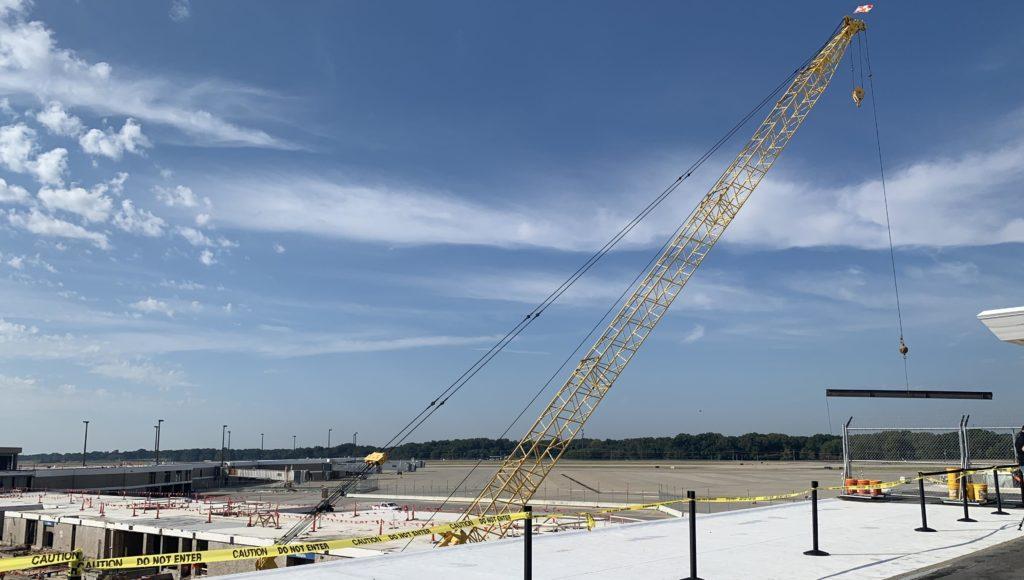 B Concourse modernization first beam