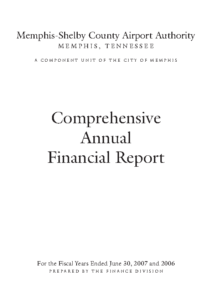 2007 Comprehensive Annual Financial Report