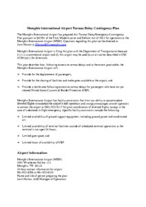 2017 Emergency Contingency Tarmac Delay Plan