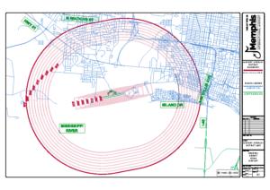 Airport Overlay District Map (General DeWitt Spain Airport)