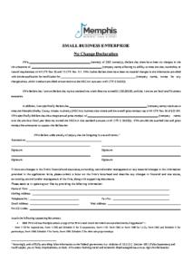 SBE Renewal Application