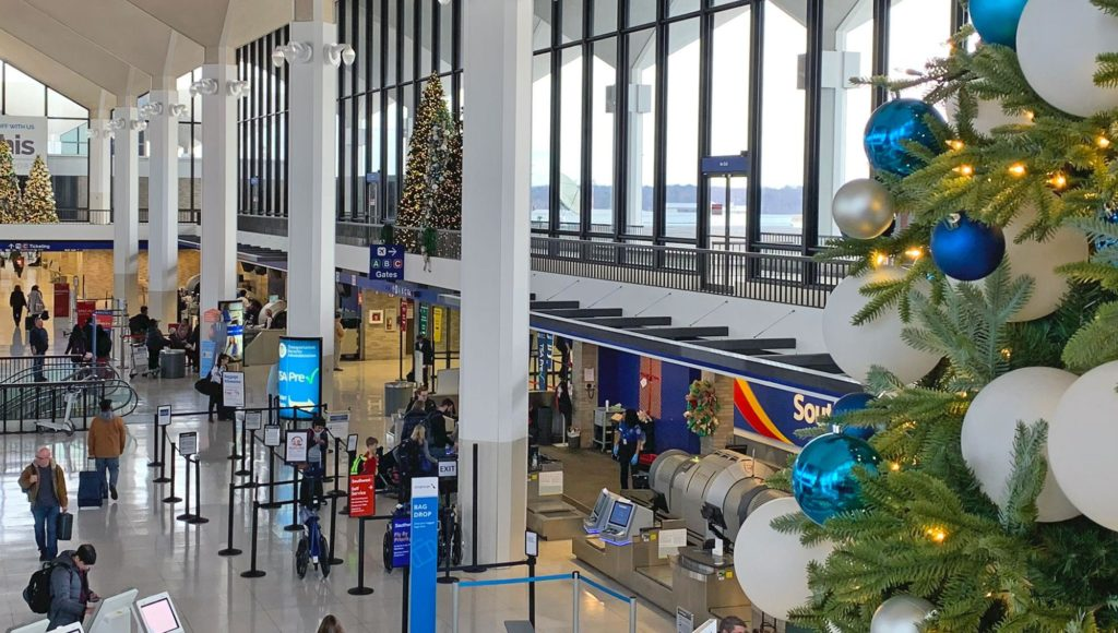 Christmas 2019 decor in terminal