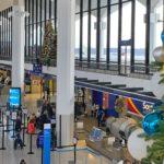 Christmas 2019 decor in terminal