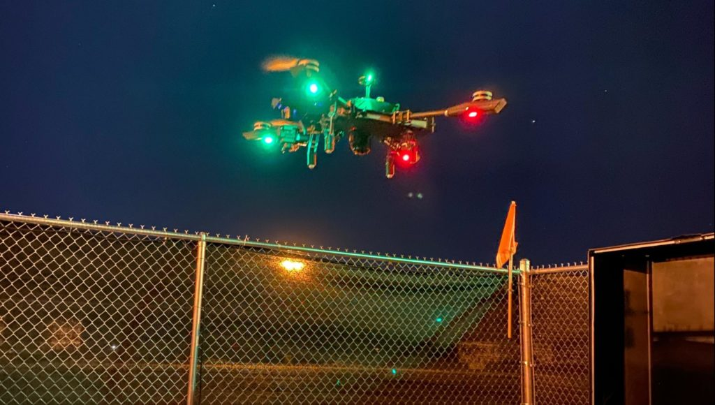 Drone at night