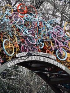 """Bike Sculpture"" by Natalia Ramos, Bartlett High School"