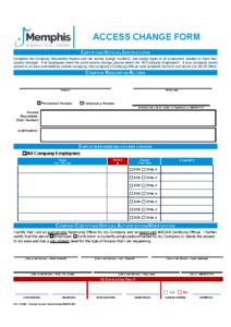 Access Change Form (Acc Fm 03c)