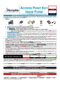 Access Point Key Issue Form (Acc Fm 07b)