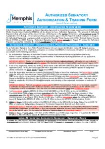 Authorized Signatory Authorization Form (Acc Fm 04a)