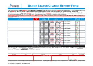 Badge Status Change Report (Acc Fm 05b)