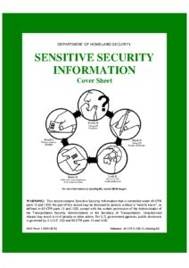 TSA SSI Coversheet (Acc Fm 00a, Oct 2012)
