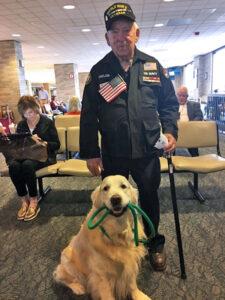 Boss with Veteran at Honor Flight