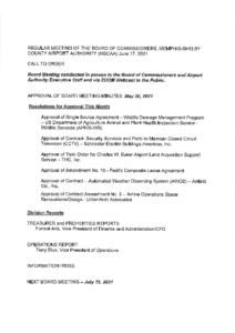 June 2021 Board Meeting Agenda